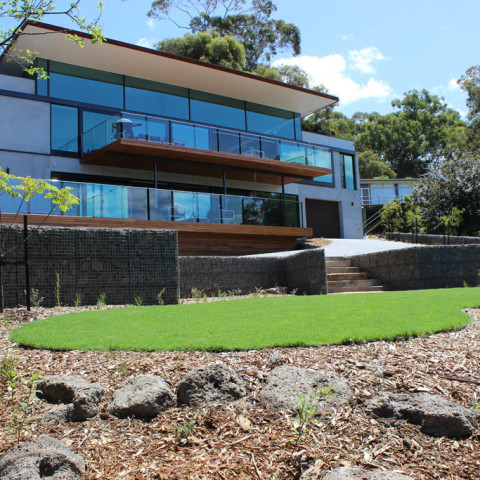 Landscapers for beach house in Lorne